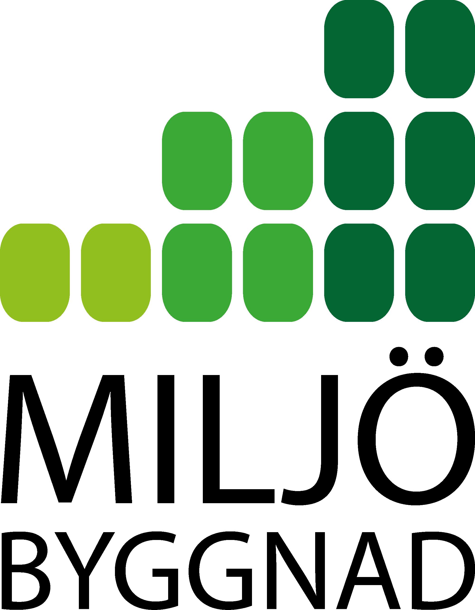 Miljöbyggnad logotyp i färg