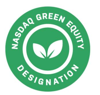 Nasdaq grön märke ikon