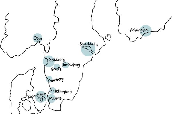 Karta med Wästbyggs kontor